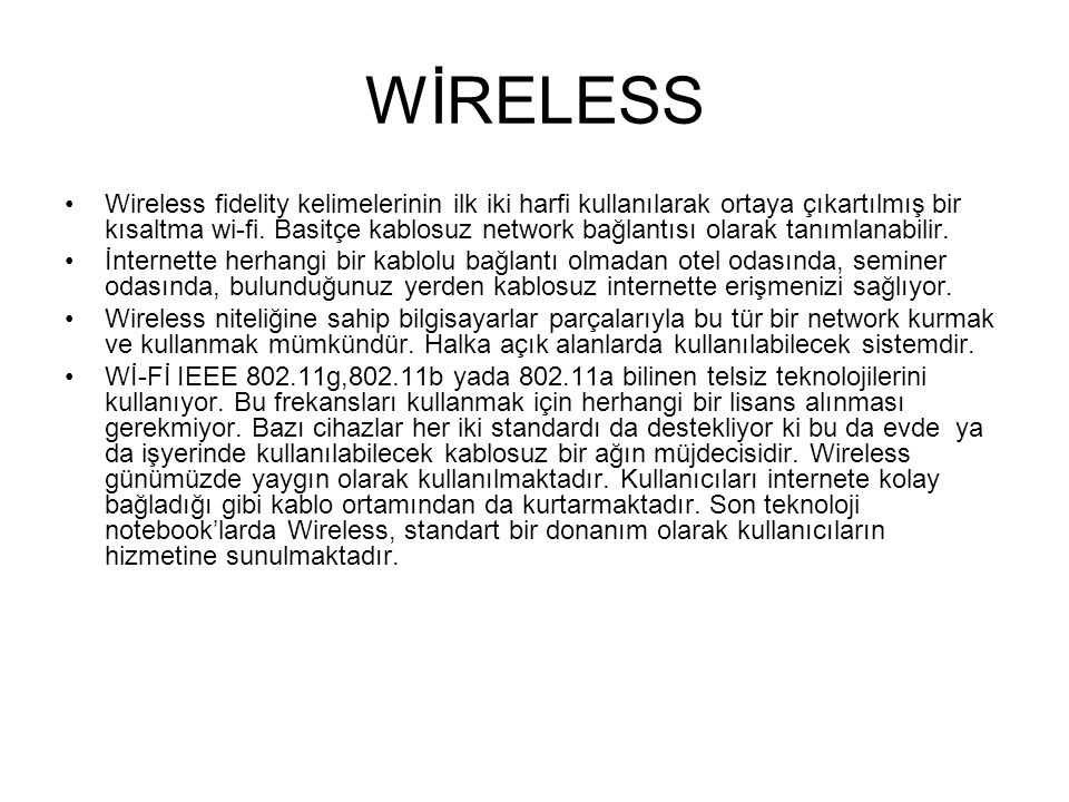 BLUETOOTH Bluetooth kablo bağlantısını ortadan kaldıran kısa mesafe Radyo frekansı (RF) teknolojisinin adıdır.
