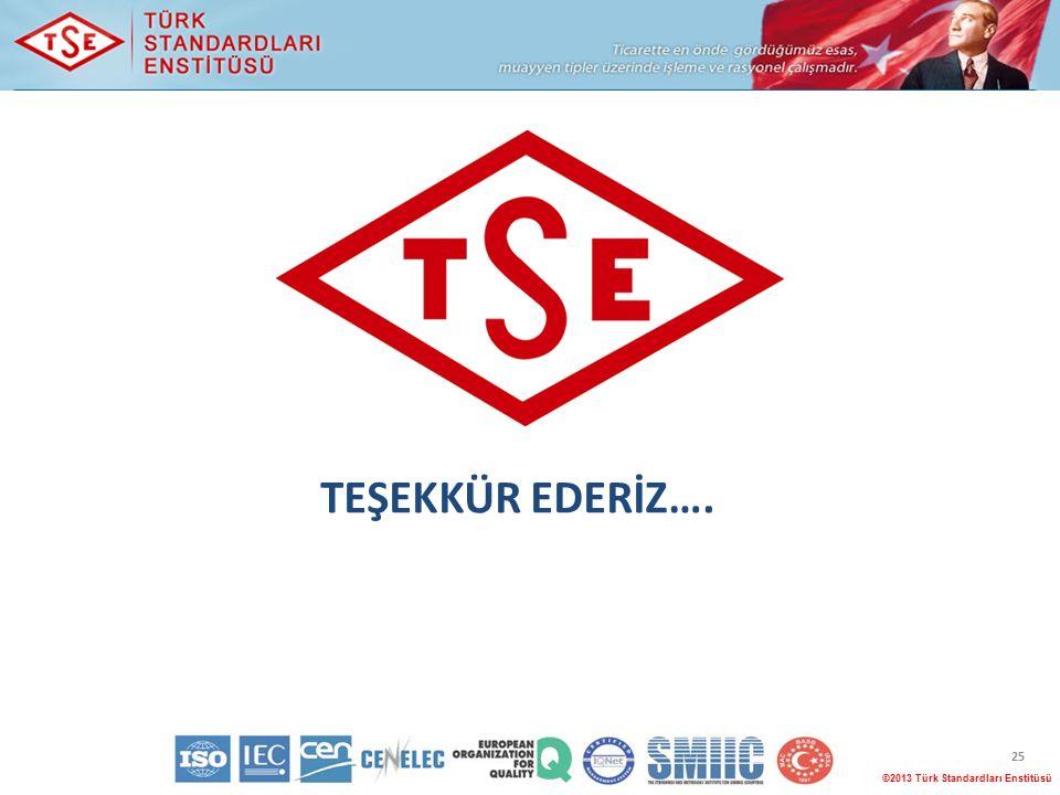©2013 Türk Standardları Enstitüsü 25 TEŞEKKÜR EDERİZ….