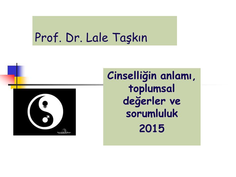 Prof. Dr. Lale Taşkın Cinselliğin anlamı, toplumsal değerler ve sorumluluk 2015