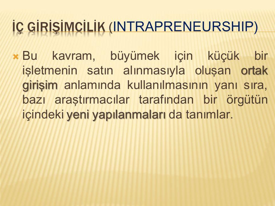 ortak girişim yeni yapılanmaları  Bu kavram, büyümek için küçük bir işletmenin satın alınmasıyla oluşan ortak girişim anlamında kullanılmasının yanı