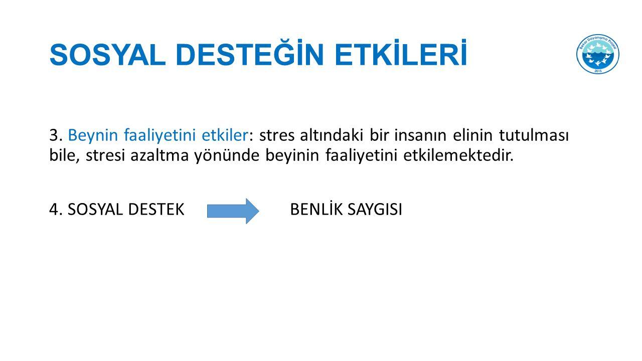 SOSYAL DESTEĞİN ETKİLERİ 3.