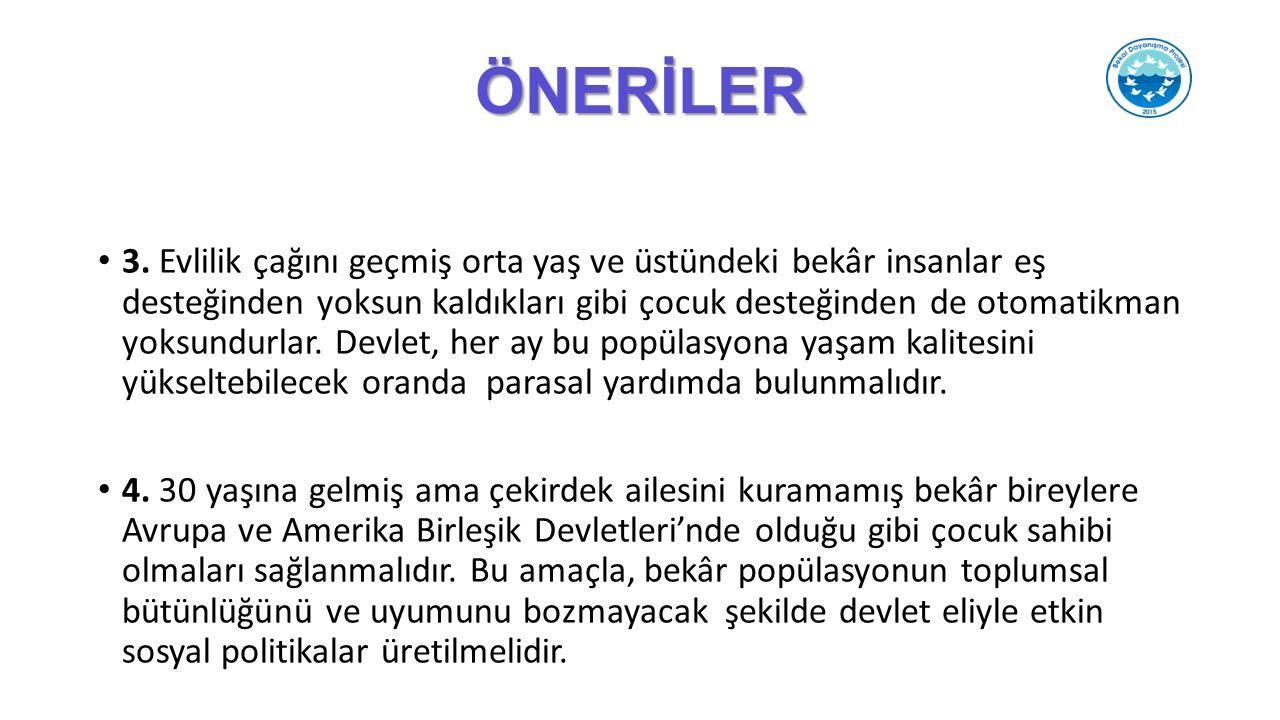 ÖNERİLER 3.