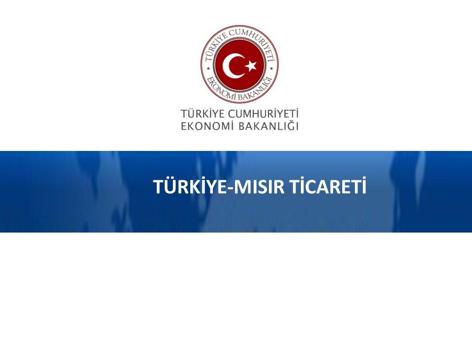 TÜRKİYE-MISIR TİCARETİ