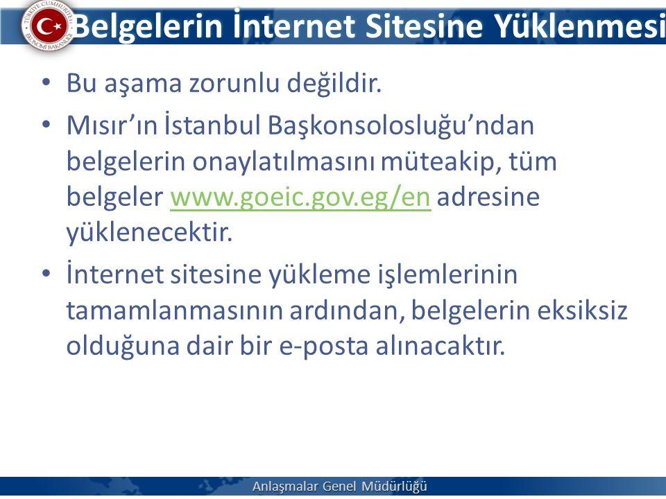 Belgelerin İnternet Sitesine Yüklenmesi Bu aşama zorunlu değildir.