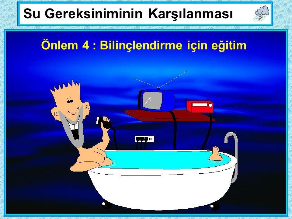 Su Gereksiniminin Karşılanması Önlem 4 : Bilinçlendirme için eğitim
