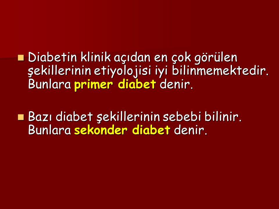 Diabetin klinik açıdan en çok görülen şekillerinin etiyolojisi iyi bilinmemektedir.