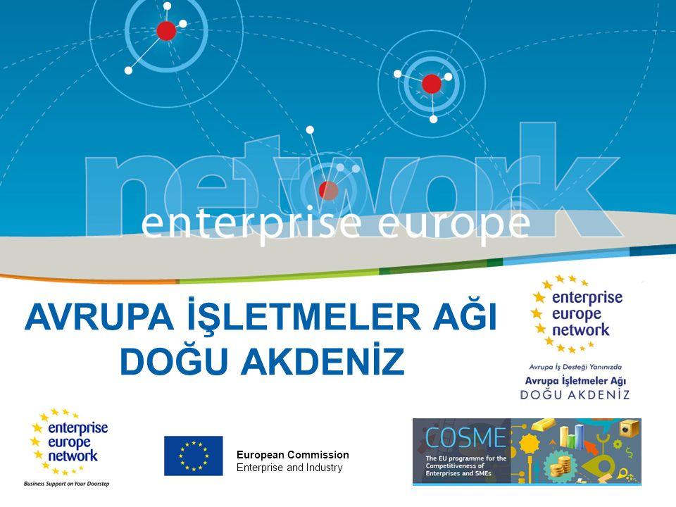AVRUPA İŞLETMELER AĞI DOĞU AKDENİZ European Commission Enterprise and Industry