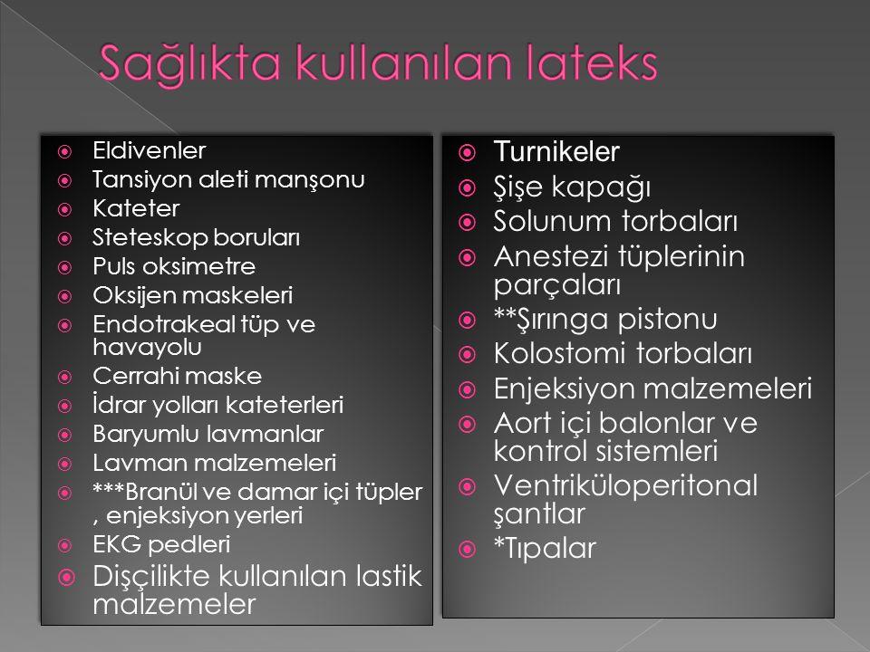 1.İrritan kontakt dermatit (Non immünolojik) 2. Allerjik kontakt dermatit (Tip 4) 3.