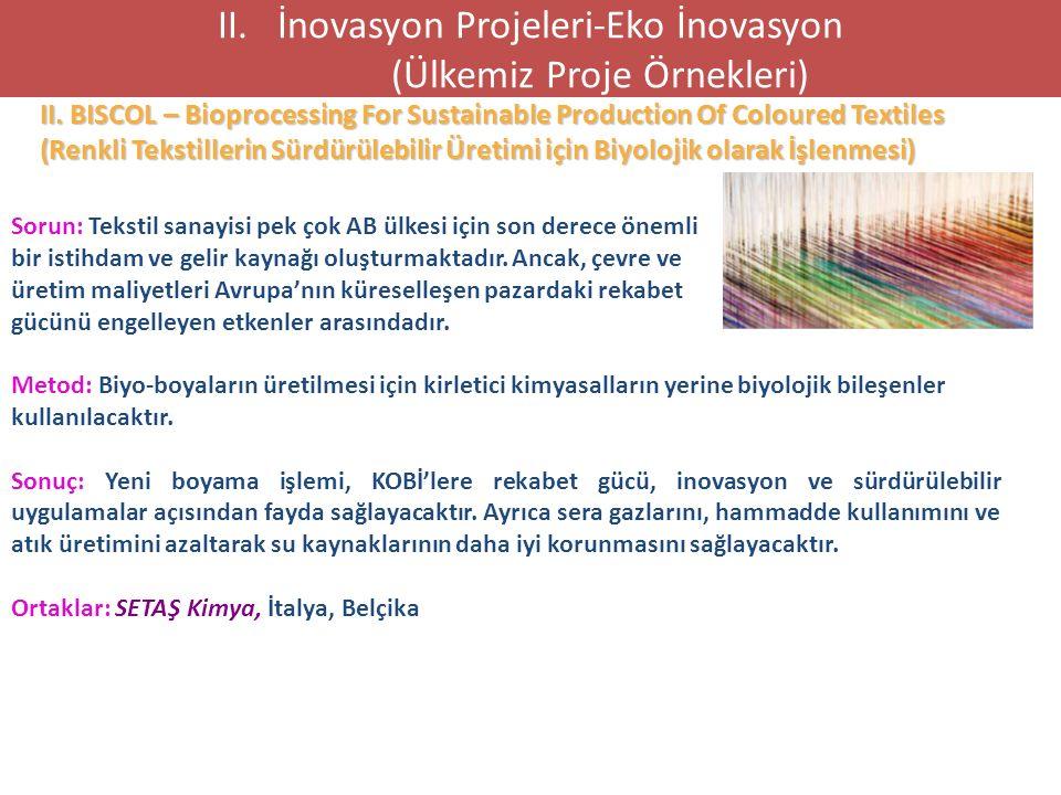 II. BISCOL – Bioprocessing For Sustainable Production Of Coloured Textiles (Renkli Tekstillerin Sürdürülebilir Üretimi için Biyolojik olarak İşlenmesi
