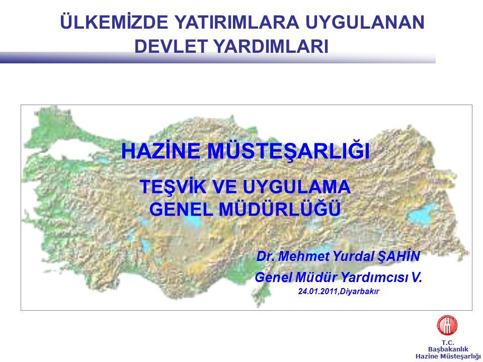 T.C.Başbakanlık Hazine Müsteşarlığı TEŞVİK UYGULAMALARI e.