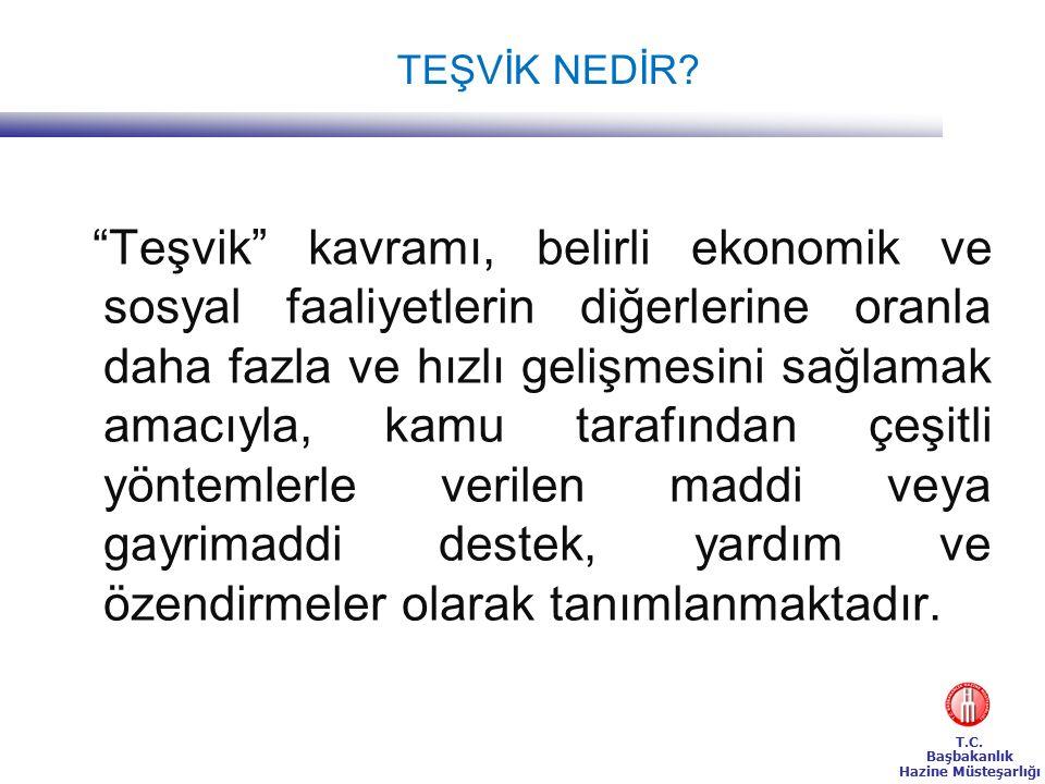 T.C. Başbakanlık Hazine Müsteşarlığı TEŞVİK NEDİR.