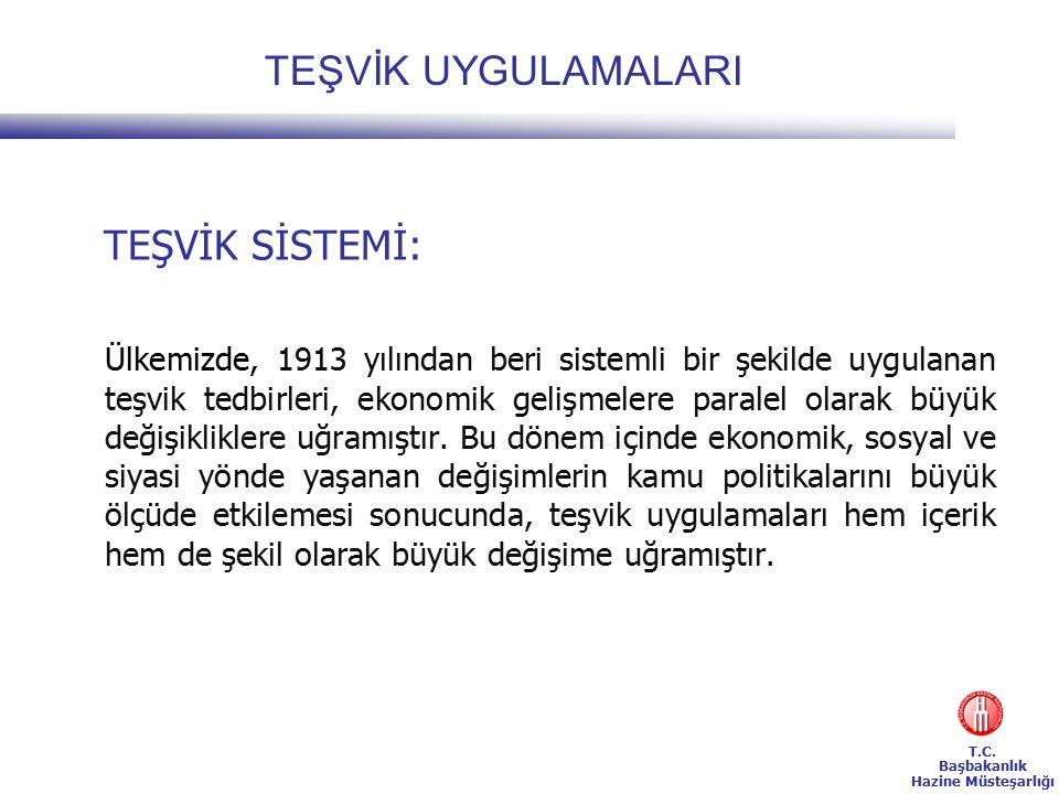 T.C.Başbakanlık Hazine Müsteşarlığı TEŞVİKİ BELLİ ŞARTLARA BAĞLI SEKTÖRLER A.