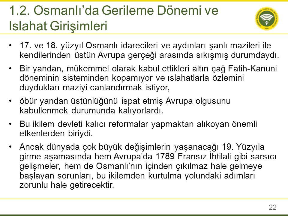 Harita 2: Gerileme Döneminde Osmanlı Devleti (Unat (1989), s.
