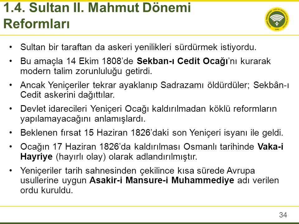 Sultan II.Mahmut saltanatının en kritik dönemi 1821 Yunan İsyanı ve sonrasında yaşadı.