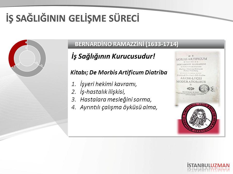 BERNARDİNO RAMAZZİNİ (1633-1714) İş Sağlığının Kurucusudur.