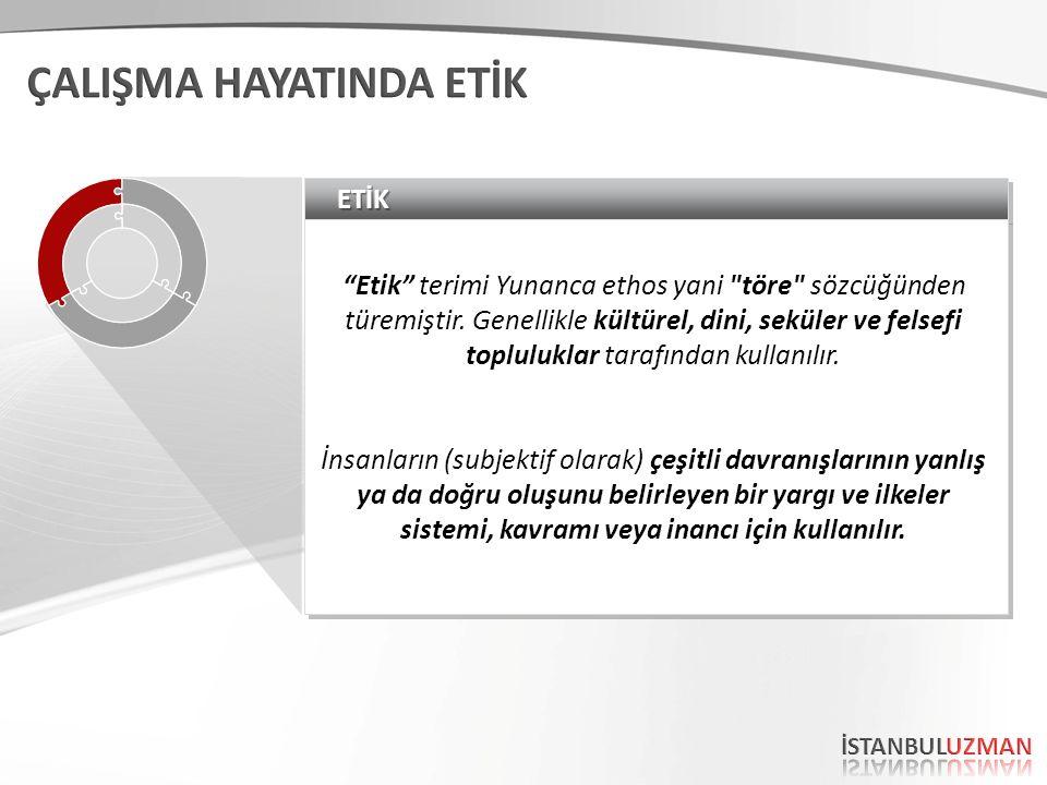 ETİKETİK Etik terimi Yunanca ethos yani töre sözcüğünden türemiştir.