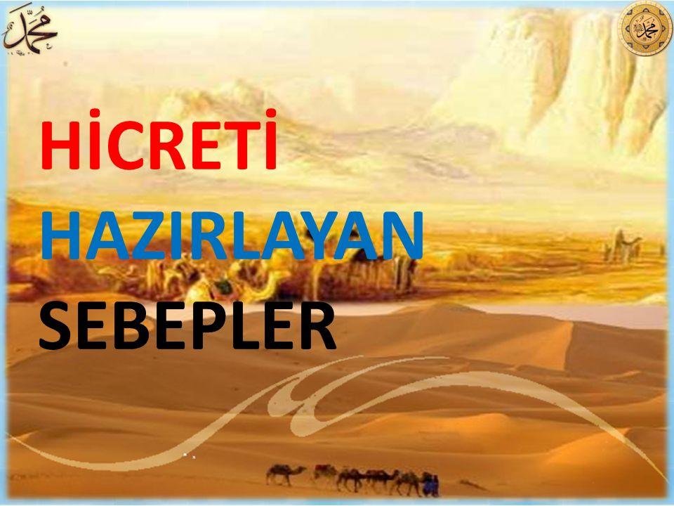 HİCRETİ HAZIRLAYAN SEBEPLER