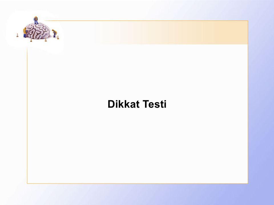 Dikkat Testi
