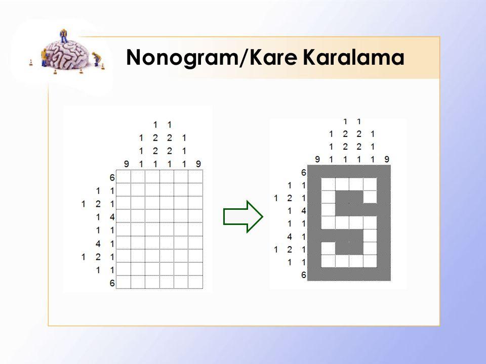 Nonogram/Kare Karalama