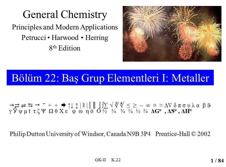 Elde Edilişleri Alkali metalleri elde edebilmek için bileşiklerinden +1 yüklü iyonlarını indirgemek gerekir.