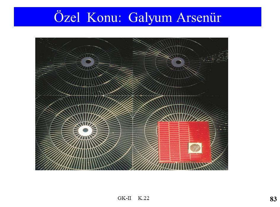 Özel Konu: Galyum Arsenür. GK-II K.22 83
