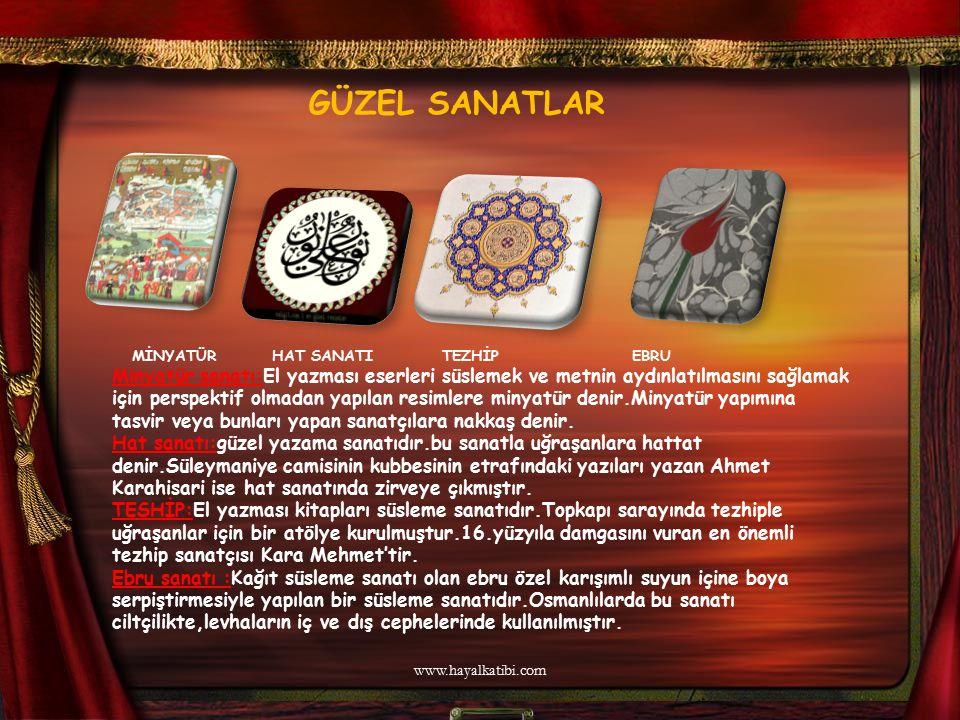 GÜZEL SANATLAR MİNYATÜR HAT SANATI TEZHİP EBRU Minyatür sanatı:El yazması eserleri süslemek ve metnin aydınlatılmasını sağlamak için perspektif olmada