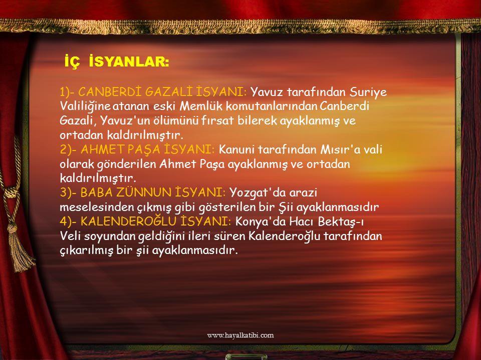 HUKUK ALANINDAKİ GELİŞMELER I.