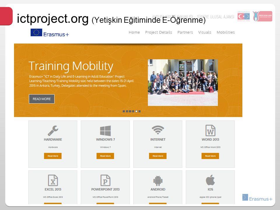 ictproject.org (Yetişkin Eğitiminde E-Öğrenme)