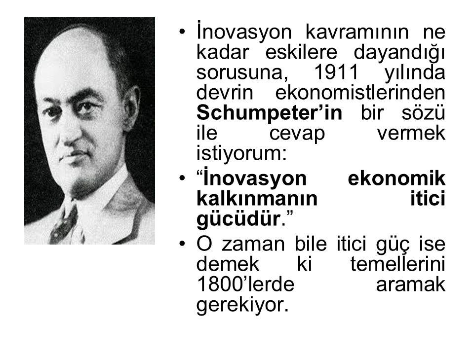 """İnovasyon kavramının ne kadar eskilere dayandığı sorusuna, 1911 yılında devrin ekonomistlerinden Schumpeter'in bir sözü ile cevap vermek istiyorum: """"İ"""
