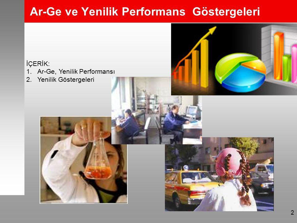 2 Ar-Ge ve Yenilik Performans Göstergeleri İÇERİK: 1.Ar-Ge, Yenilik Performansı 2.Yenilik Göstergeleri