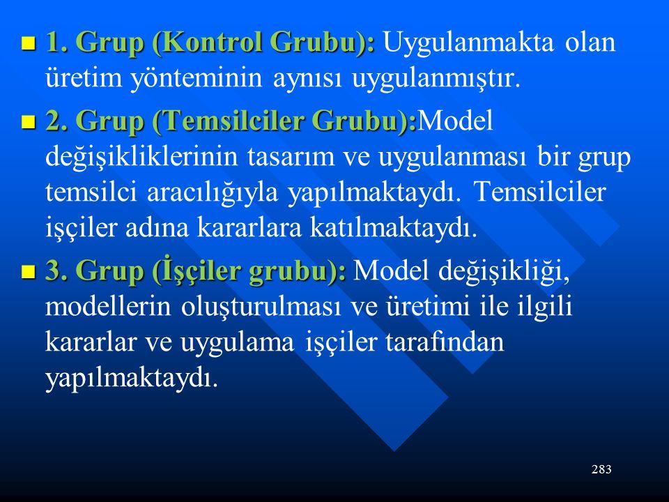 283 1. Grup (Kontrol Grubu): 1.