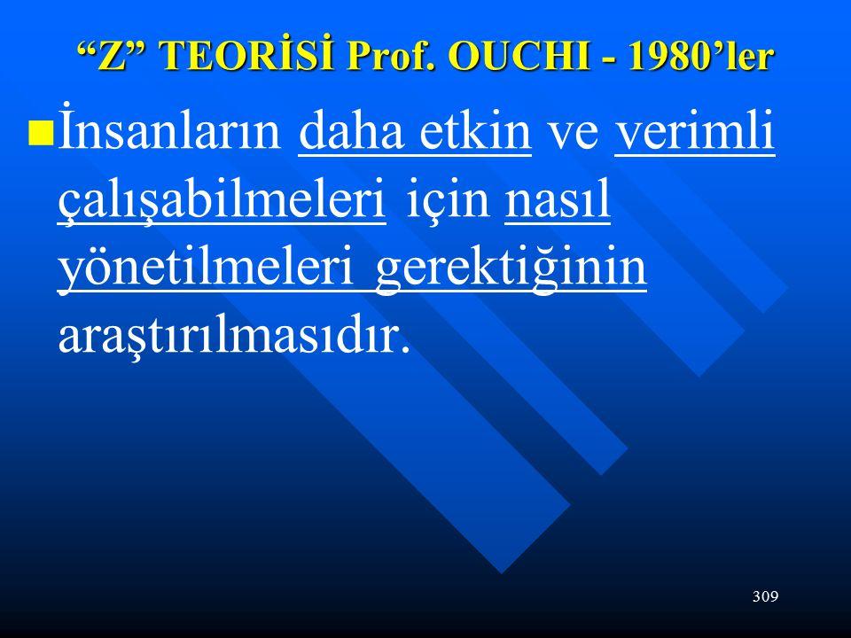 309 Z TEORİSİ Prof.