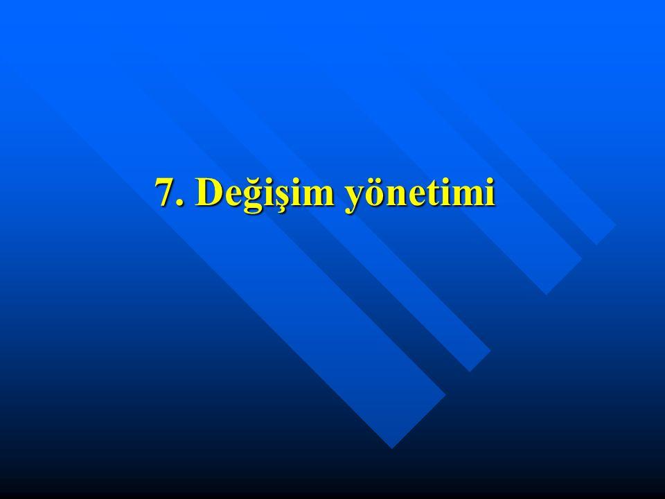 7. Değişim yönetimi