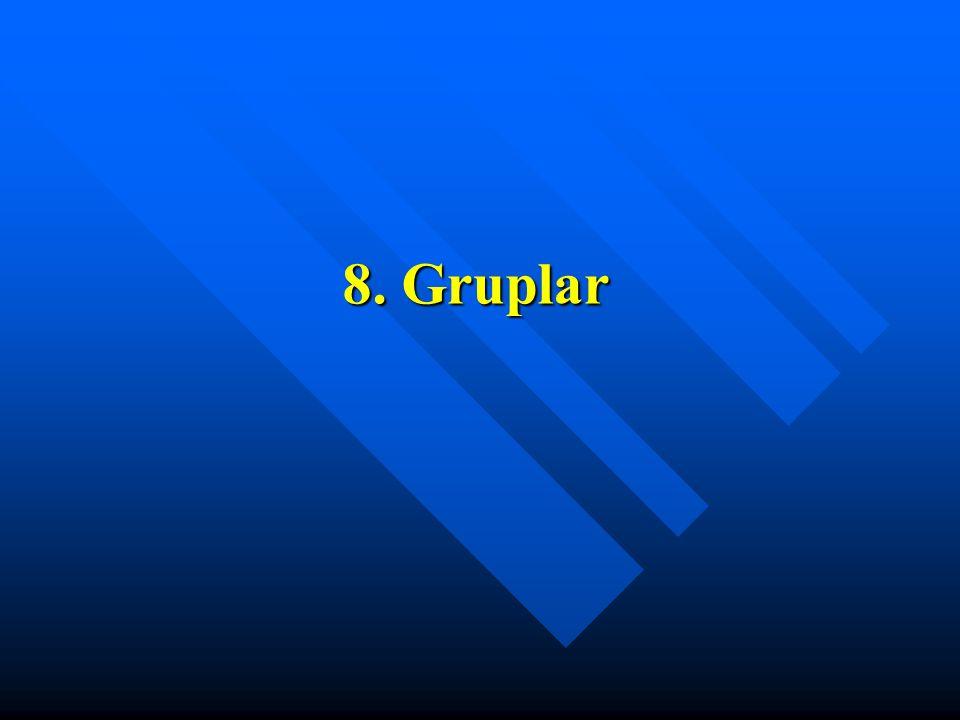 8. Gruplar
