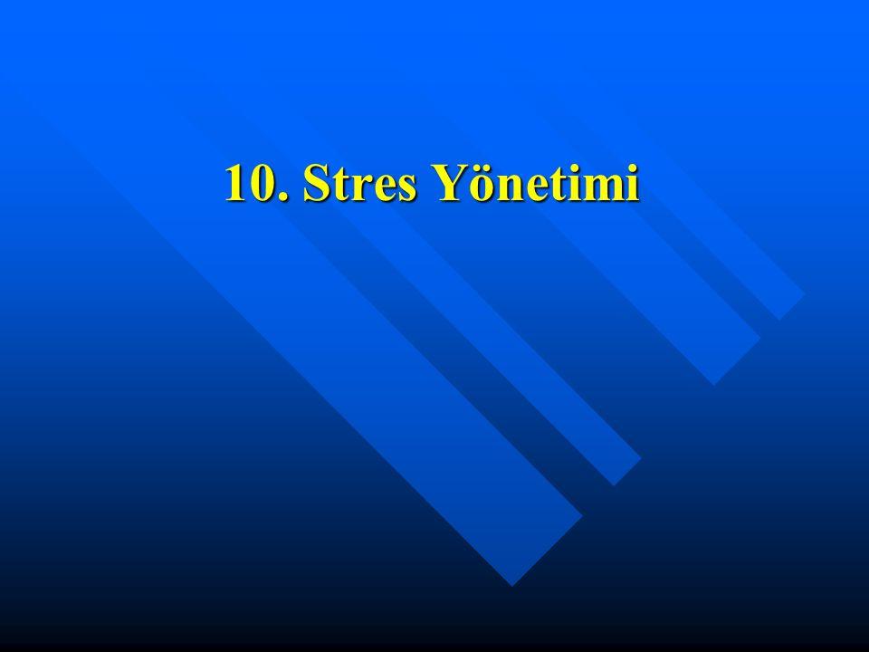 10. Stres Yönetimi
