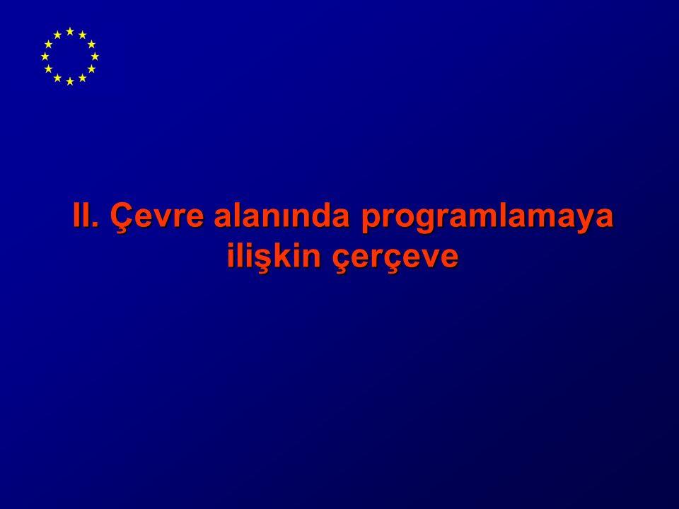 II. Çevre alanında programlamaya ilişkin çerçeve