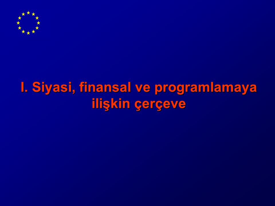  Environmental Heavy Cost Investment Planning-2002  Water for Human Consumption-2004  Biocidals-2004  Water Framework Directive (Büyük Menderes)-2006  TA for Project Preparation-2005  Dablas (Yeşilırmak Basin)-2006  Capacity Building (MoEF & İller Bank)  Nitrate Directive-2007  Marmara Air Quality-2007  IPPC Directive (96/61/EC)-2009  Water Quality Monitoring- 2009  Flood Risk Management-2010 Tamamlanmış Projeler