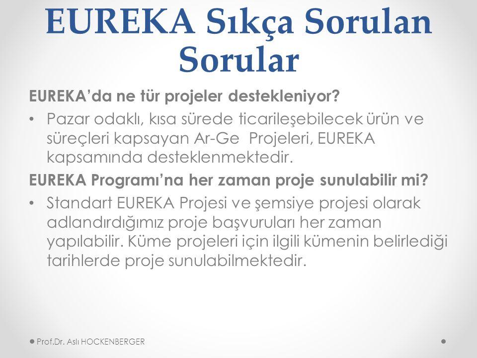 EUREKA Sıkça Sorulan Sorular EUREKA'da ne tür projeler destekleniyor.