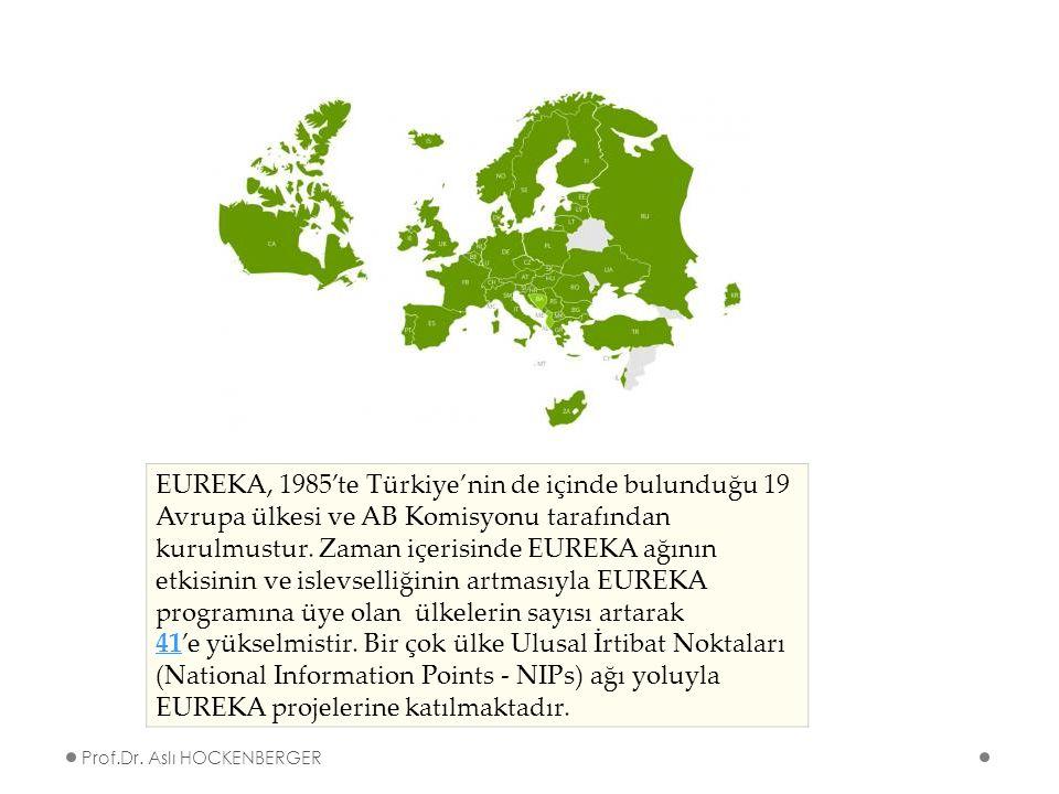 EUREKA, 1985'te Türkiye'nin de içinde bulunduğu 19 Avrupa ülkesi ve AB Komisyonu tarafından kurulmustur.
