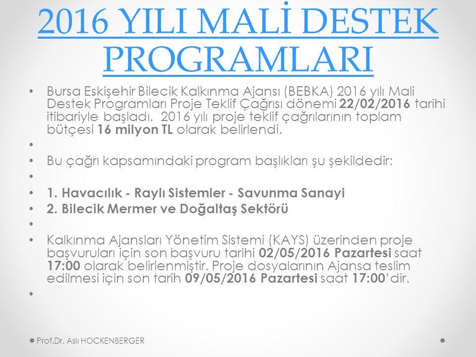 2016 YILI MALİ DESTEK PROGRAMLARI Bursa Eskişehir Bilecik Kalkınma Ajansı (BEBKA) 2016 yılı Mali Destek Programları Proje Teklif Çağrısı dönemi 22/02/2016 tarihi itibariyle başladı.