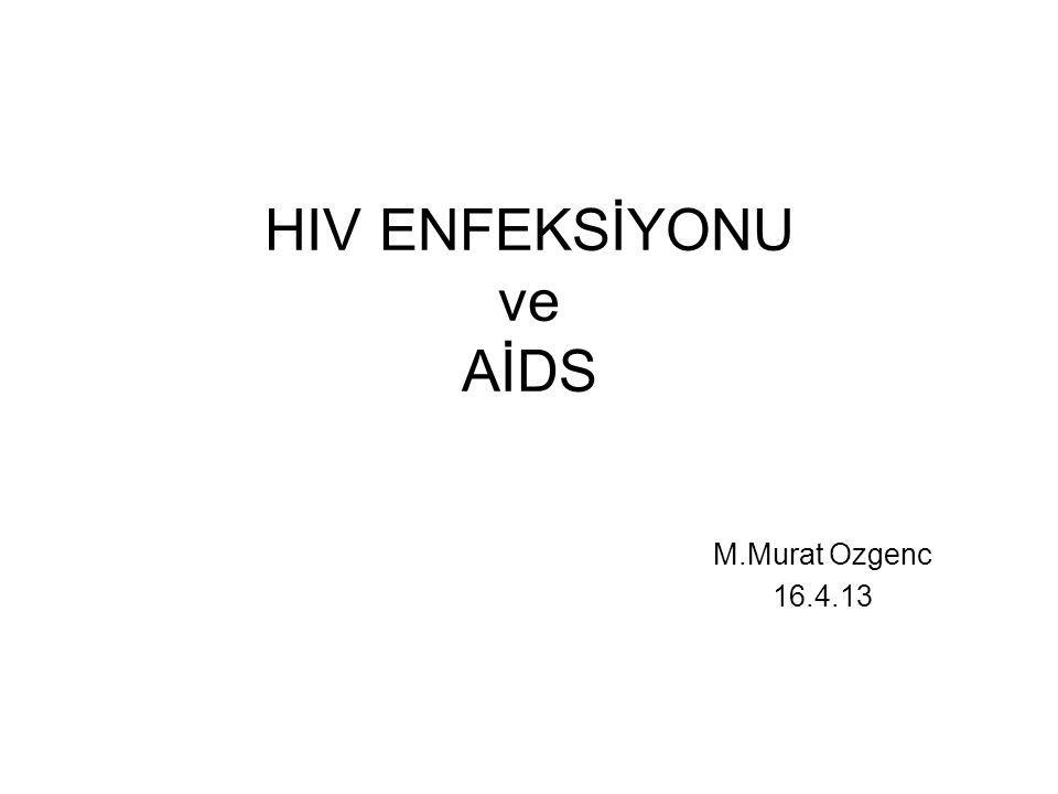 AİDS, HIV enfeksiyonu sonucu cd4 T lenfositlerin etkilendiği immün yetmezliktir İlk tanı konan vaka 1981 ABD Kaliforniya 2010 yılı itibariyle 34 milyon vaka  AİDS hastları geniş bir klinik spektrumla acil servislere başvururlar  ABD'de AS'e başvuran hastaların ortalama %10'u HIV ile enfekte