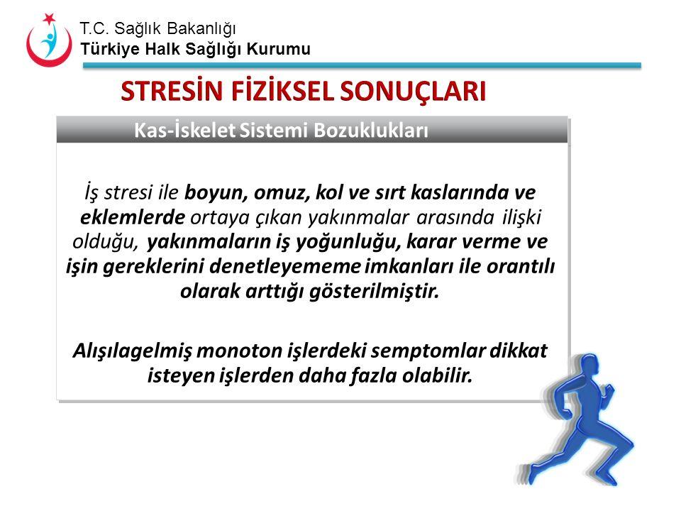 T.C. Sağlık Bakanlığı Türkiye Halk Sağlığı Kurumu Kas-İskelet Sistemi Bozuklukları İş stresi ile boyun, omuz, kol ve sırt kaslarında ve eklemlerde ort