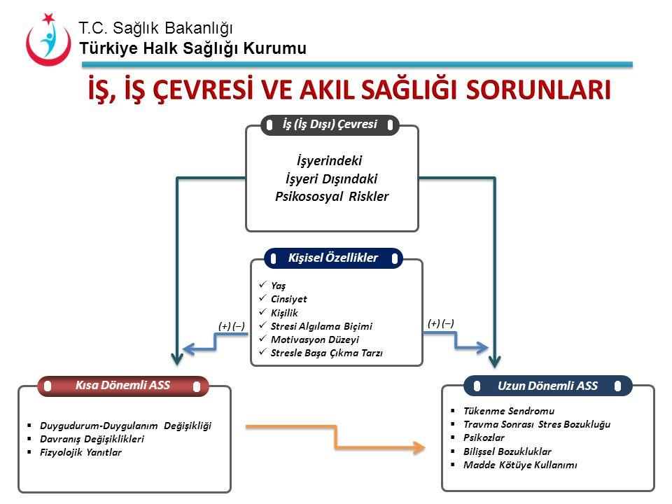 T.C. Sağlık Bakanlığı Türkiye Halk Sağlığı Kurumu İşyerindeki İşyeri Dışındaki Psikososyal Riskler İş (İş Dışı) Çevresi Yaş Cinsiyet Kişilik Stresi Al