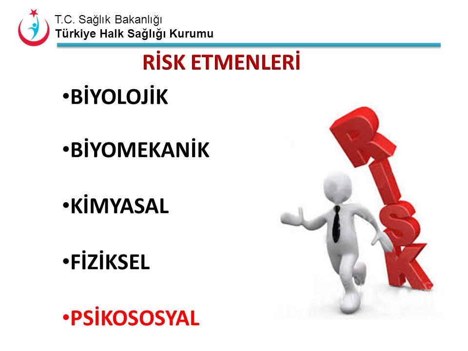 T.C. Sağlık Bakanlığı Türkiye Halk Sağlığı Kurumu BİYOLOJİK BİYOMEKANİK KİMYASAL FİZİKSEL PSİKOSOSYAL