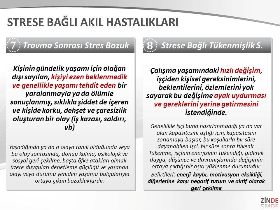 Strese Bağlı Tükenmişlik S.