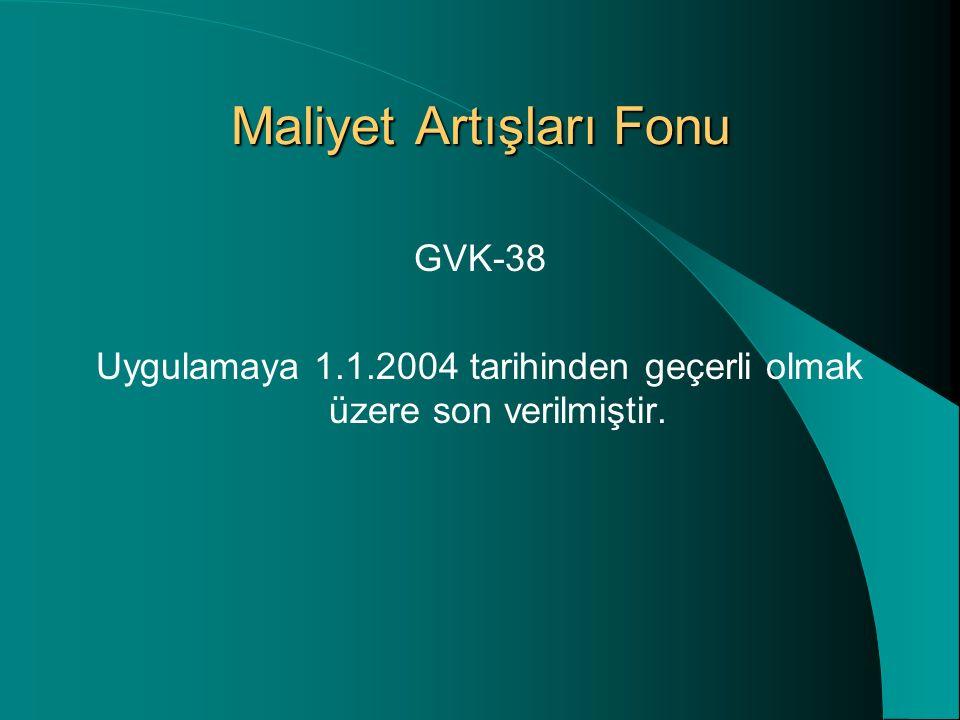 Dönembaşı bilançosuna ait aktif toplamının 7,5 trilyon Türk Lirasını aşması halinde, ihtiyarilikten yararlanılamayacak ve 30.6.2004 tarihli ikinci geçici vergi dönemine ait bilanço düzeltmeye tabi tutulacaktır.