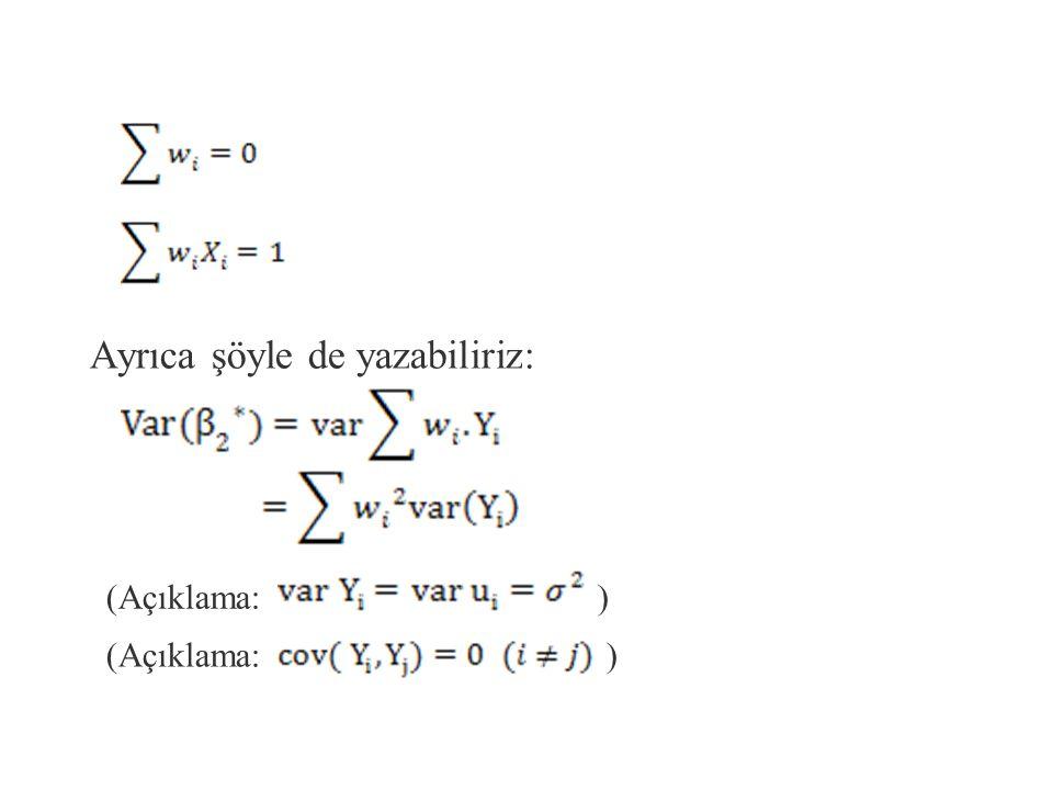 Buradaki w i 'ler tartılıdır fakat 'lere eşit olması gerekmez.