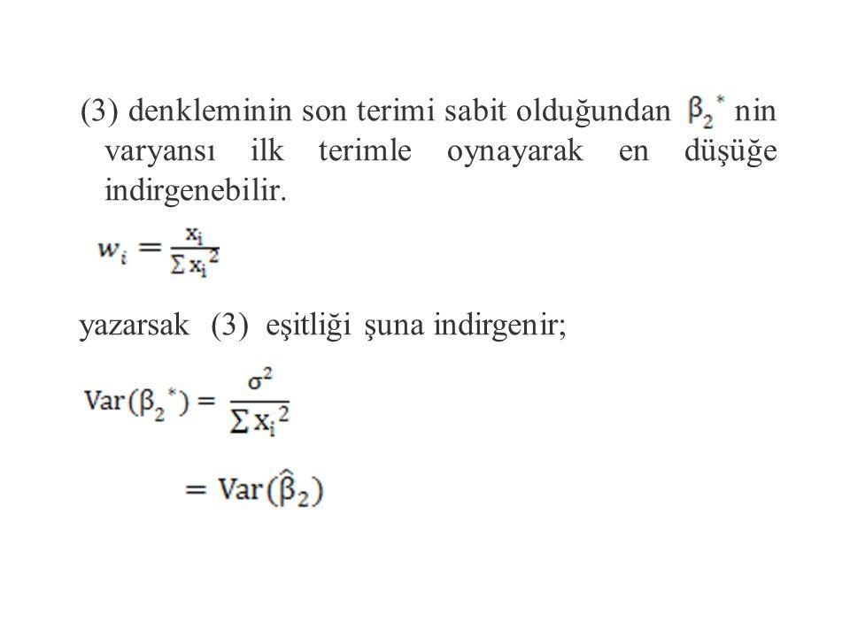 ( matematik hilesine dikkat edin) (3) Burada, sondan ikinci satırın en son terimi ortadan kayboldu.(Neden?)