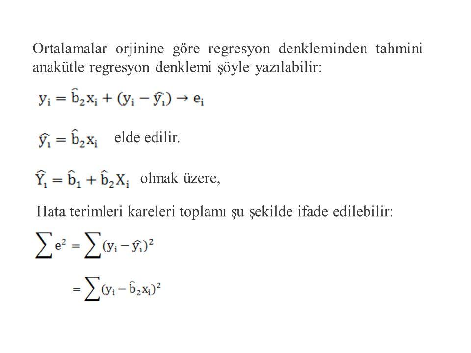 Bu ifadenin her iki tarafını n ile böldüğümüzde Elde edilen ifade çıkarılırsa ; Veya elde edilir.