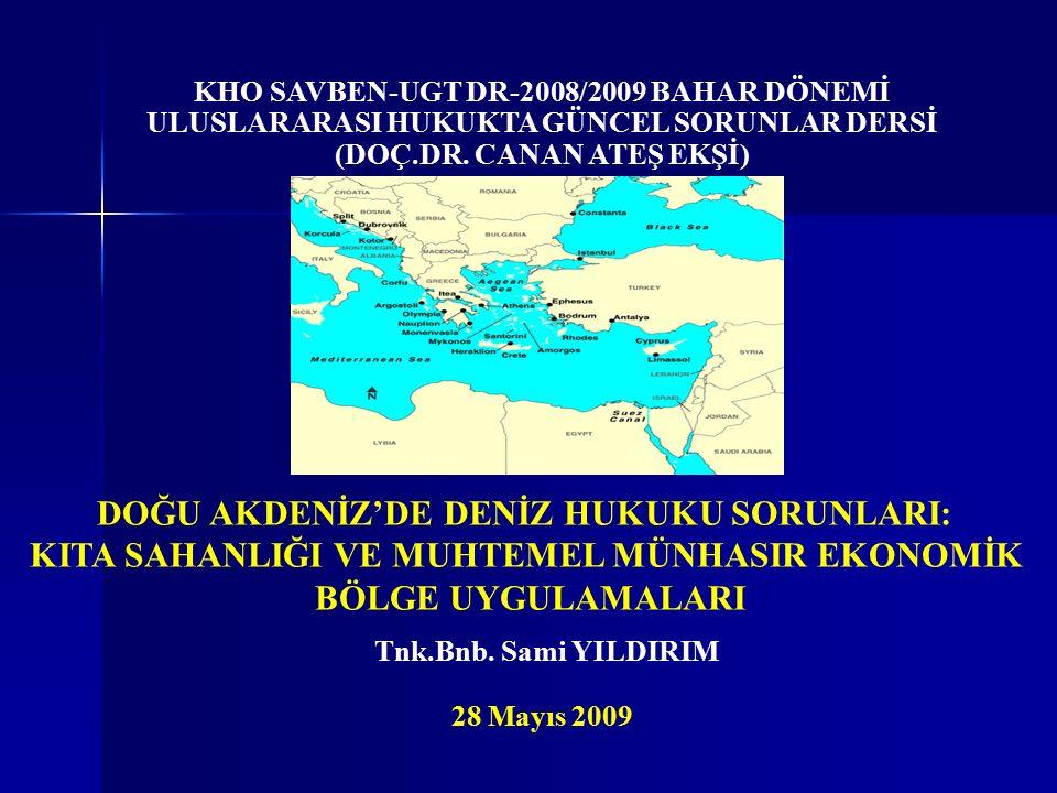 Sunuş Sırası  Giriş: Doğu Akdeniz Bölgesi ve Önemi  Türkiye'nin Doğu Akdeniz'den Dışlanması Çabaları  Hakkaniyet İlkelerine Göre Sınırlandırma  Türkiye ve KKTC'nin Politika ve Uygulamaları  Sonuç ve Öneriler 2